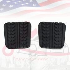 2pcs Brake&Clutch Pedal Pads For Mazda RX-7 B-Serles MPV 323 626 929 US Stock
