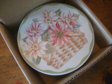 Longaberger Sunflower Pottery Coaster Set of Four New Boxed