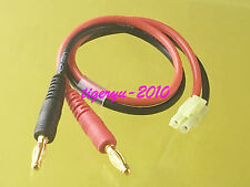 TAMIYA MINI Male to 4mm Bullet Banana charger lead cable 14AWG For AIRSOFT