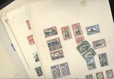 BRITISH COLONIES, Excellent  Assortment of Stamps hinged on pages & in stock pgs