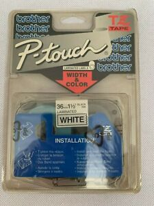 "NEW GENUINE/ORIGINAL brother TZ-261 TZ Label Tape, Black Print on White, 1-1/2"""