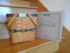 Longaberger Charter Collectors Club Membership Basket 1996 w/box *free shipping*
