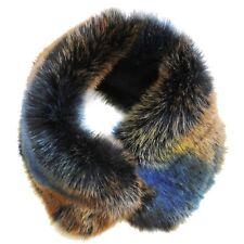 Cuello De Pelo Sintetico Rex Zorro Azul Gorro Rusa Bufanda de Piel Estola 2 En 1