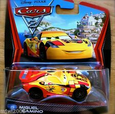 Disney PIXAR Cars 2 MIGUEL CAMINO diecast #23 WORLD GRAND PRIX SPAIN Spanish
