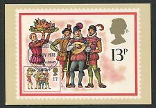 GB UK MK 1978 CHRISTMAS MUSIC MAXIMUMKARTE CARTE MAXIMUM CARD MC CM d403
