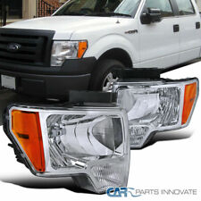 09-14 Ford F150 F-150 Pickup Euro Chrome Clear Headlights Head Driving Lamps
