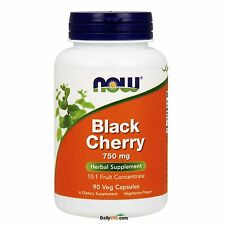 NOW® Black Cherry Fruit 750mg-90 Veg Capsules, Fresh, Free Shipping, Made in USA