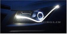 2x 60CM LED White Car DRL Daytime Running Lamp Strip Light Flexible Soft Tube