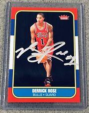 Derrick Rose autograph 2008-09 Fleer #163 RC signed 1986-87 rookie auto GAI COA