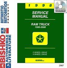 Repair manuals literature for dodge ebay 1998 dodge ram truck shop service repair manual cd fandeluxe Images