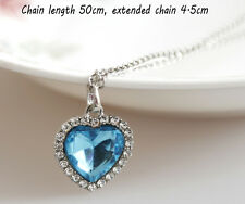 Fashion Crystal Full Rhinestones Titanic The Heart of Ocean Necklaces Jewelry