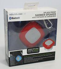Shower Speaker New SoundLogic Xt Wireless Bluetooth Splashproof with Fm Radio
