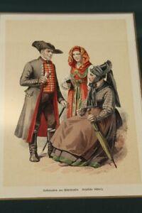 Costume From Middle Franconia,Franconian Switzerland - Chromo Litho 1884 (A) /