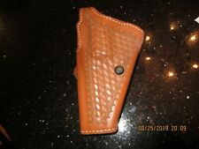 """S&W MD 29 HOLSTER, SAFARILAND LEATHER SUEDE LINED 4"""" LEFT HAND, ALSO MD 27,28"""