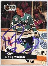 DOUG WILSON 1992 PRO SET  SHARKS AUTOGRAPHED HOCKEY CARD JSA