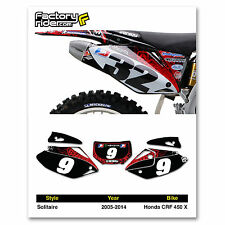 2005-2014 HONDA CRF 450 X Number Plate Dirt Bike Graphics Solitaire By Enjoy MFG