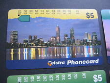 AUSTRALIA TELSTRA PHONECARD PERTH SKYLINE 1996
