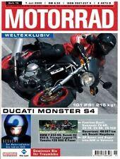 M0015 + DUCATI Monster S4 + Gebrauchtkauf HONDA VTR 1000 F + MOTORRAD 15/2000