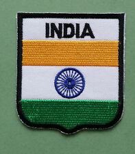 NATIONAL FLAG COUNTRY SHIELD SEW ON / IRON ON EMBROIDERED PATCH:- INDIA