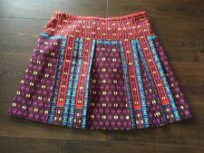 Nanette Lepore Multicolor Silk Pleated A-Line Skirt, Size 6