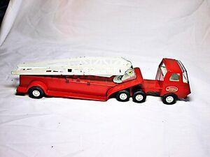 Tonka Toy 1968 Red Metal Hook & Ladder Truck Very Nice