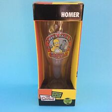 HOMER SIMPSON CHALLENGE BEER GLASS 500 ml NEW In Box The Simpsons 2005 Groening