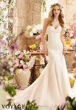 Mori Lee Bridal 6807 White size 16 Strapless Wedding Gown