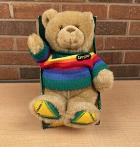 Gund Crayola Crayon Kids Sweater Bear Plush 10 Inches In Box
