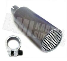 """Rlv Header w/ Clamp Muffler / Silencer for 1"""" Exhaust Pipe Racing Go Kart Parts"""