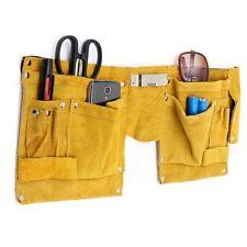 Cintura Borsa Porta Utensili Attrezzi Pelle Carpentiere Elettricista 13 Tasche