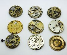 Steampunk Vintage pocket watch movements and a dials total weight 148.48 Grams