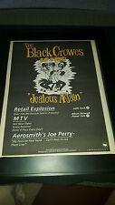 The Black Crowes Jealous Again Rare Original Radio Promo Poster Ad Framed!