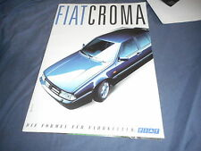 1991 Fiat Croma Color Brochure Catalog Prospekt