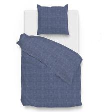 ZO! HOME Bettwäsche Lino Urban Blue einfarbig meliert viele Größen Baumwolle