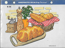 Vintage Handpainted Bread Loaf's Decals by Decorcal B-36 New