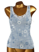 Arianne - SIZE S - Top Camisole Corsage Printed 5805 Ana ,Color:Blue