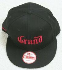 New Era Grand Marnier Black & Red Snapback 9Fifty Baseball Hat Cap Cotton Adult