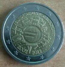 2 EURO GERMANIA 2012 - 10° DELLE MONETE E BANCONOTE EURO Conio F-J.