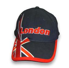 Navy Baseball Cap Raised Union Jack Embroidered Base Ball Hat London Souvenir