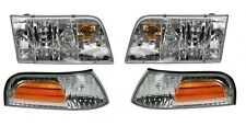 1998 - 2011 FORD CROWN VICTORIA HEAD & CORNER LIGHTS LEFT & RIGHT COMBO SET 4PCS