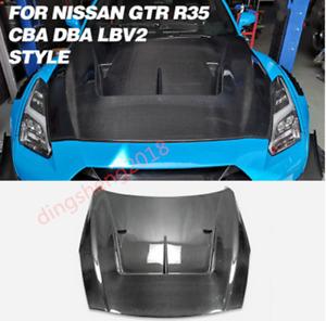 Carbon Fiber Dmx Style Front Hood Bonnet Bodykit For Nissan Skyline GTR R35 LBV2