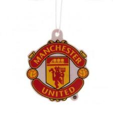 Manchester United Fc Man Utd Air Freshener Red & Yellow Football Crest Logo New