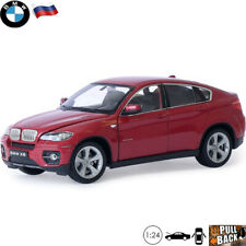 Diecast Car Scale 1:24 Mid-size Luxury Crossover BMW X6 Red Model Toy Cars