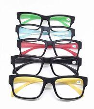 Fashion Matte Big Square Frame Candy Colors Reading Glasses Reader +0.5 0.75~4.0