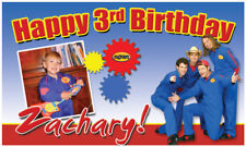 """Imagination Movers - 21""""x36"""" Birthday Banner customize add child's name/age/pics"""