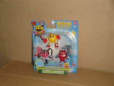 PAC-MAN & THE GHOSTLY ADVENTURES X 3 MINI ACTION FIGURES BY BANDAI ASST# 38975
