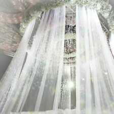 2 Pack 10M Wedding Backdrop Gauze Curtain Organza Wedding Party Venus Decor DIY