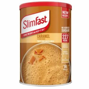 Slim Fast Caramel Flavour Shake Powder 584g - 16 Servings Meal Replacement