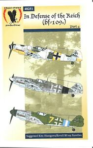 Eagle Strike Decals In Defense Of The Reich Bf-109 Part 4 Hasegawa Revell #48251