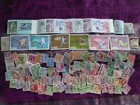 100 Vintage Foreign Postage Stamps! SEE PICS!!!